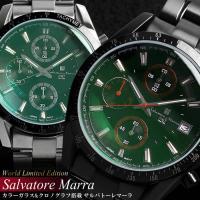 クロノグラフ クロノグラフ 腕時計 メンズ SalvatoreMarra sm13101 メンズ 限...