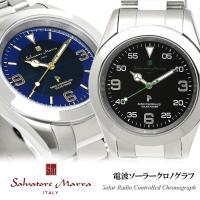Salvatore Marra サルバトーレマーラ 電波 ソーラー 腕時計 メンズ 10気圧防水 S...