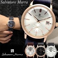 【Salvatore Marra】 サルバトーレマーラ 腕時計 メンズ レディース 革ベルト レザー...