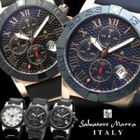 Salvatore Marra サルバトーレマーラ 腕時計 メンズ クオーツ 10気圧防水 クロノグ...