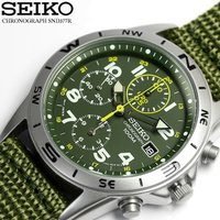 ミリタリー ミリタリ SEIKO セイコー逆輸入 クロノグラフ メンズ 腕時計 1/20秒高速測定モ...