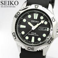 SEIKO セイコー ソーラー ダイバーズウォッチ 腕時計 ブラック ラバー SNE107P2 セイ...