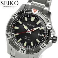 SEIKO セイコー ソーラー ダイバーズウォッチ 腕時計 ブラックSNE295P1 セイコー海外モ...