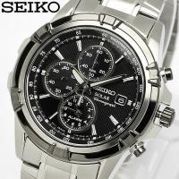 SEIKO セイコー ソーラー アラームクロノグラフ 腕時計 SSC147P1 高性能のセイコークロ...