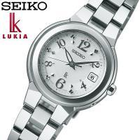 SEIKO セイコー LUKIA ルキア ソーラー電波 腕時計 レディース ssqw013 電池交換...