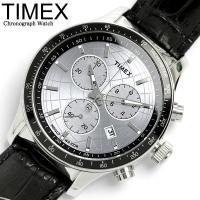TIMEX タイメックス 腕時計 メンズ レザー クロノグラフ T2N820タイメックスの定番、クロ...