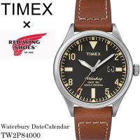 TIMEX Red Wing タイメックス レッドウィング 腕時計 クオーツ 5気圧防水 デイトカレ...