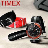 タイメックス 腕時計 オリジナル ヴィンテージ 1978 ダイバー メンズ ブラック TIMEX U...