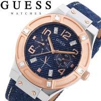 GUESS ゲス 腕時計 レディース マルチカレンダー デニムベルト ジーンズ W0289L1 &l...