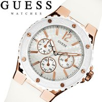 GUESS ゲス 腕時計 レディース マルチカレンダー ラバーベルト ホワイト W10614L2 G...