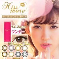 商品名 kissmore(キスモア)ワンデー  度数 度なし DIA(直径) 14.2mm  BA(...