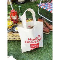 コカ・コーラブランド コットンバッグS(スクエアロゴ) アメリカ雑貨 アメリカン雑貨 おしゃれ