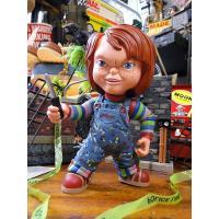 コイツ、マジで怖いよ〜 あまりにも有名な恐怖の人形チャッキーがソフビドールになって登場!  大ヒット...