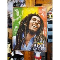 レゲエの神様として知られるボブ・マーリーがブリキ看板になってリリースされました。  いやーちょっとビ...