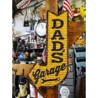 「お父さんのガレージはこちら!」のアローサイン ■ アメリカ雑貨 アメリカン雑貨