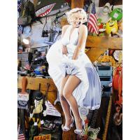 映画「7年目の浮気」マリリン・モンローのビッグエンボスティンサイン ■ アメリカン雑貨 アメリカ雑貨