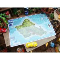 サーフィンの聖地として知られるハワイはオアフ島のノースショアを紹介したサーフィンのための地図、名付け...