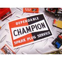 100年以上の歴史を持つスパークプラグのメジャーブランド、チャンピオンのロゴがワッペンで登場です!モ...
