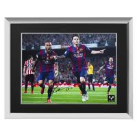 リオネル・メッシ 直筆サインフォト 額入り 15-16 バルセロナ ゴールvsアスレティック・ビルバオ Lionel Messi Signed Barcelona Photo Goal vs Athletic Bilbao|cardfanatic