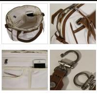 DIESEL ディーゼル バッグ レディース メンズ 革 キャンバス地 ショルダーバッグ トートバッグ 2way 白 X01927 PR125 H4826