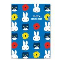 ミッフィー クリアファイルA4 青 ★miffy and cat★ [042945]