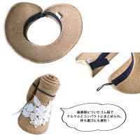 帽子 雨 レイン つば広 日よけ帽子 ぼうし UVカット 紫外線 アウトドア レース コンパクト UVカットペーパーサンバイザー
