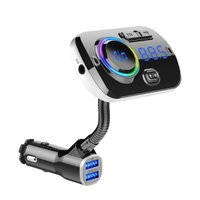UPINTEK FMトランスミッター Bluetooth 5.0 Siri&Google Assistantに対応 車載トランスミッター ハンズフリー通話 QC3.0急速充電2USBポート カーチャー
