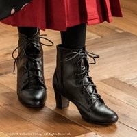 卒業式 小学校 袴 女子 袴用ブーツ レースアップブーツ  黒 スーツ キッズ フォーマル カジュアル  23 24 25cm