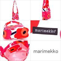 1点のみネコポス選択したら送料無料 マリメッコ marimekko 花柄 ショルダーバッグ コットン キャンバス ウニッコ レッド レディース CLOVER 26910-001