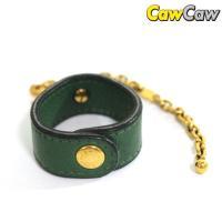 グリーンとゴールドの上品なカラーが魅力のグローブホルダー。多少の使用感や黒ずみ、金属部分のくすみ・小...