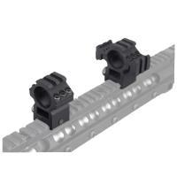 25.4mmスコープ対応 レイル付き スコープマウントリング 2個入 ブラック 黒 BD9168C