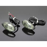 新品未使用品 LED カウルウインカー 2個セット  スタイルを選ばないシンプルなティアドロップ型の...