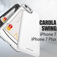 カード収納の新発想 スウィング式。片手で簡単出し入れ  スマホ、ICカード、財布などなど持ち歩く荷物...