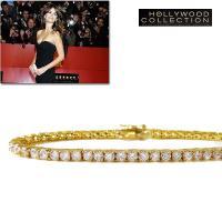 ダイヤモンド18金テニスブレスレットは高品質ダイヤモンドCZが繊細で美しい光を放ち、洗練されたフォル...