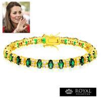 エメラルド ダイヤモンド 18金ゴールドブレスレットはロイヤルウエディングで世界中を魅了したキャサリ...