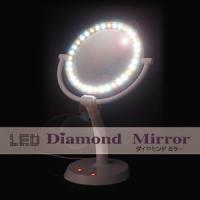 [商品名] LEDダイヤモンドミラー [内容] 本体 × 1 [サイズ] 直径22cm(鏡直径18c...