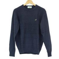 「クロコダイル」の使いやすい毛混クルーネックセーター。 単色でシンプルですがボーダーごとにデザインの...