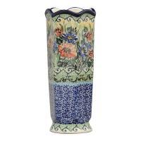 """お花を飾るるフラワーベースです。 絵柄は、ユニカットを得意とするデザイナー""""Teresa Liana..."""