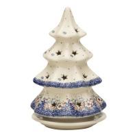 モミの木型のキャンドルホルダーです。クリスマスシーズンにピッタリです。 絵柄は、クレマチスの花をイメ...