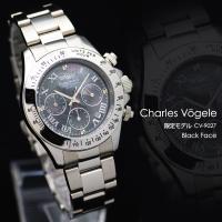 ■シャルルホーゲル Charles Vogele 腕時計 メンズ ハイグレードモデル ホワイト シェ...