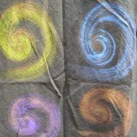 【送料無料】 アジアンマルマル柄 ワンピース モスグリーン コットン素材 【アジアン タイ雑貨 エスニック】