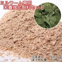ミルワーム専用 栄養強化セット(ふすま500g+乾燥ちぢみほうれん草10g)昆虫 ワーム 餌(エサ)