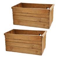 青森県産りんご箱 アンティーク仕立て 訳あり 2箱セット お一人様1点 同梱不可