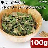 国産 デグーのための7種グリーンサラダミックス 100g おやつ 桑の葉入り