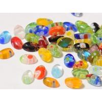 ■色 ランダムミックスカラー  ■1セット 100個 ■素材 ガラス ■サイズ 約6mm x 3.8...
