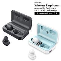 ワイヤレスイヤホン Bluetooth 5.1 iPhone Android 高音質 防水 自動接続 チーロ cheero Wireless Earphones モバイルバッテリー機能付き ノイズキャンセリング