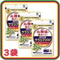 小林製薬 サラシア100 60粒 3袋セット 血糖値 コレステロール サラシアエキス トクホ