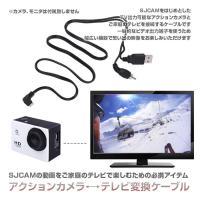 ◇ アクションカメラテレビ変換ケーブル 説明 ◇ ● SJCAMをはじめとした TV出力可能なアクシ...
