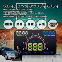 ◇ 5.8インチヘッドアップディスプレイ 説明 ◇ ● 5.8インチ大画面ヘッドアップディスプレイ登...
