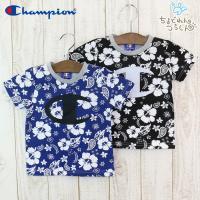 夏らしいボタニカル柄がキュートなチャンピオンの半袖Tシャツ!胸には大きなチャンピオンロゴマーク! ■...